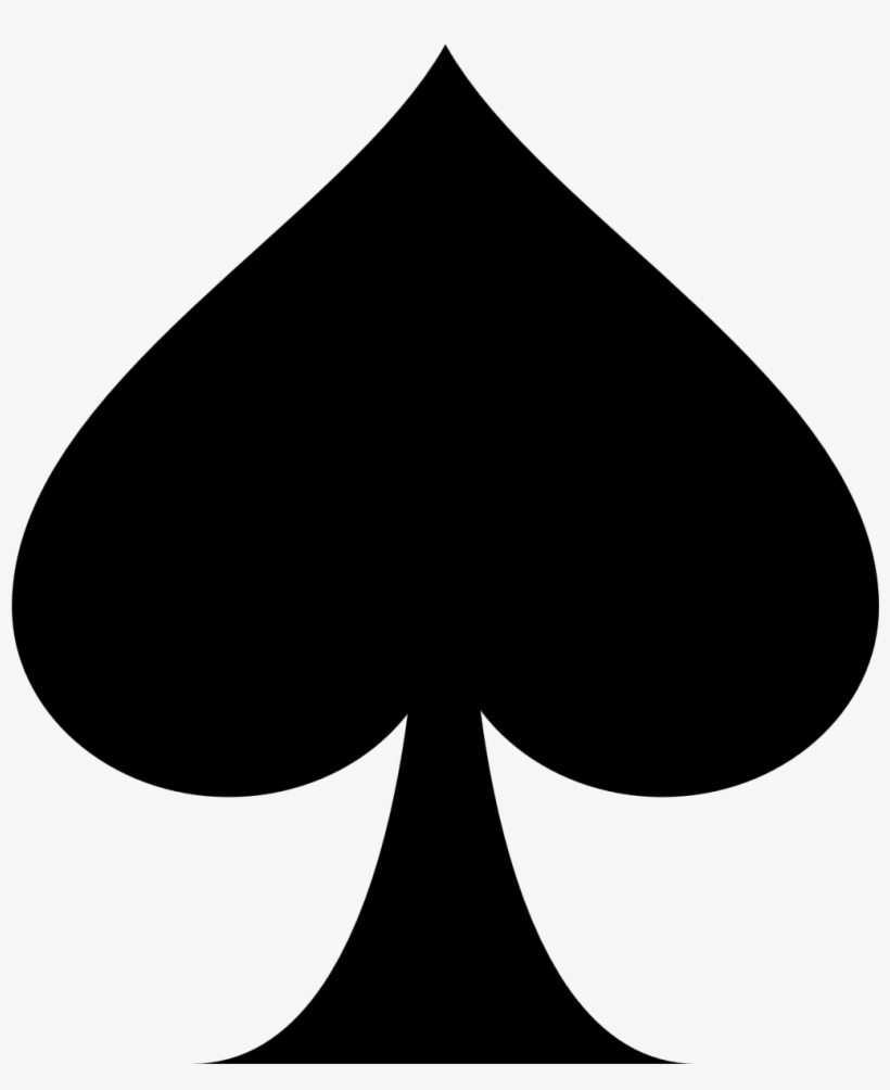 Playing Card Ace Of Spades Suit Clip Art.