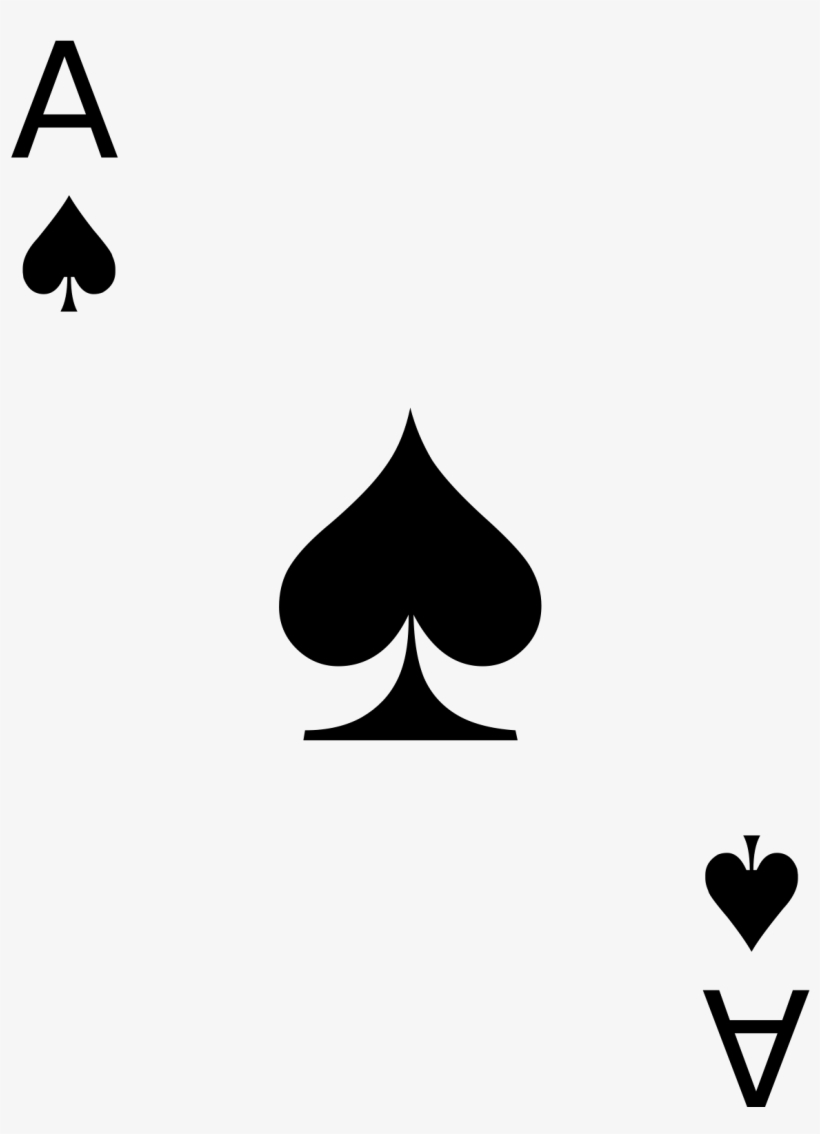 Ace Of Spades Clipart PNG Image.