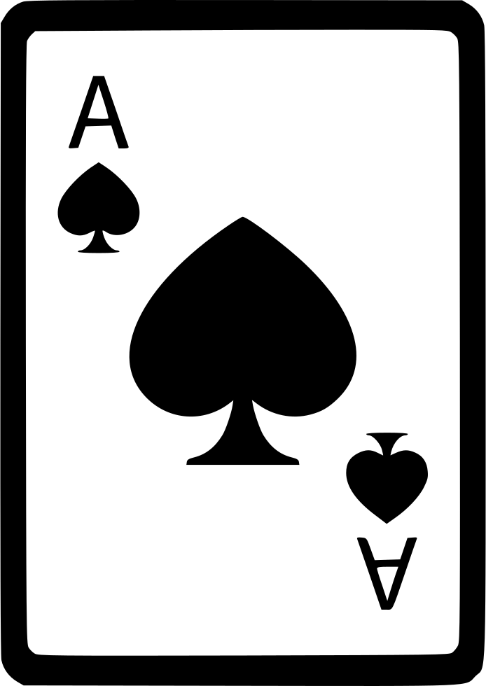 Ace Of Spades Card Poker Svg Png Icon Free Download (#561208.