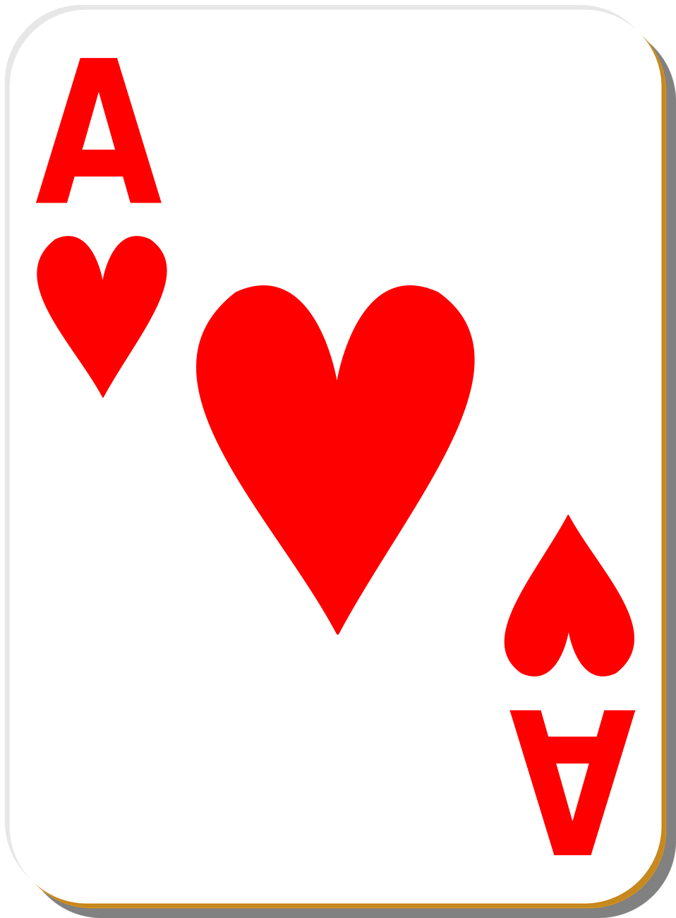 Ace Heart Playing Card Clip Art in 2019.
