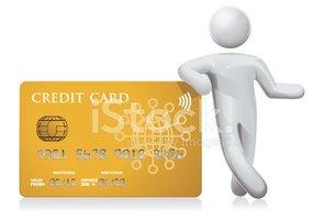 Cartão DE Crédito DE Confiança imagens vetoriais.