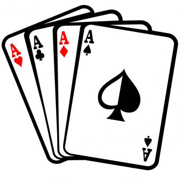 Four aces poker cards clip art Vector.
