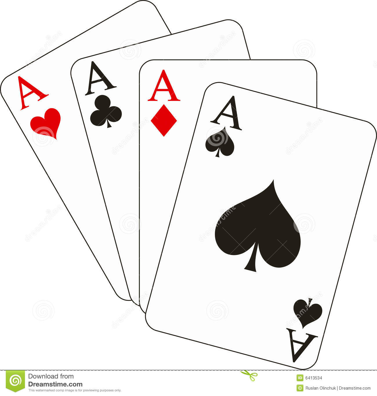Four Aces Stock Images.