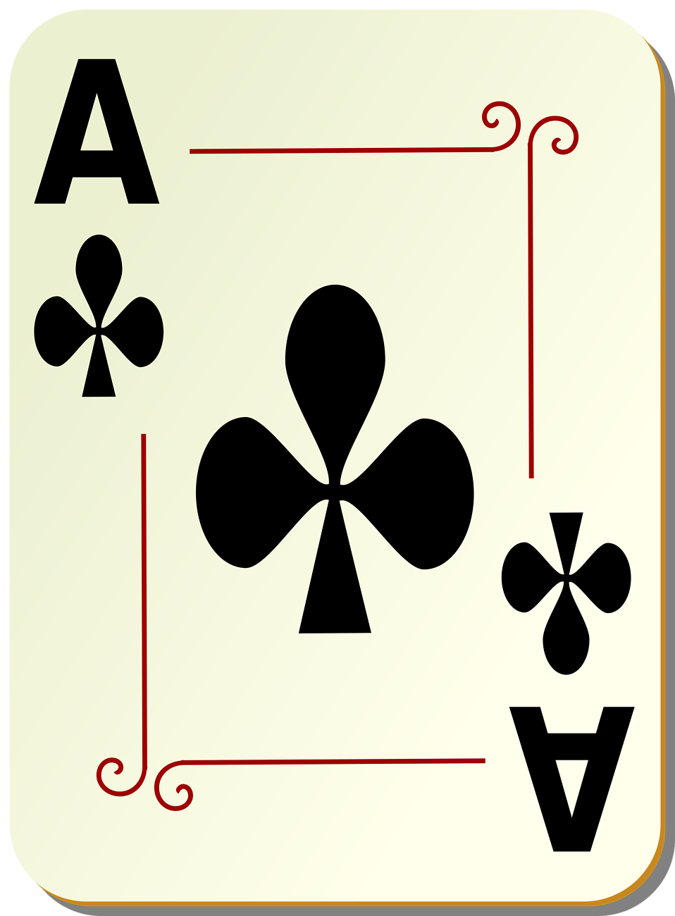 Aces playing cards clipart.