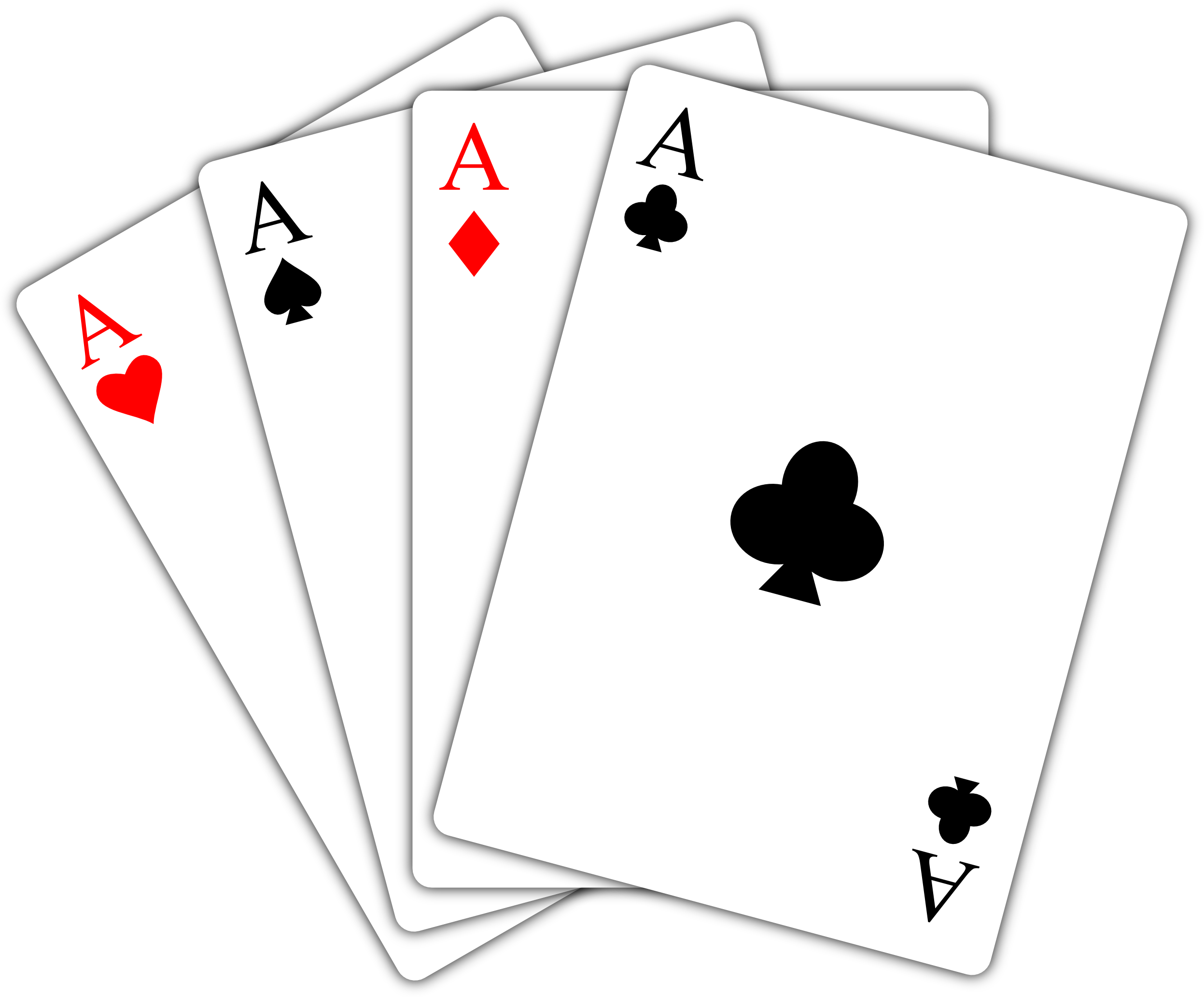 Aces Playing Cards Black And White Clipart.