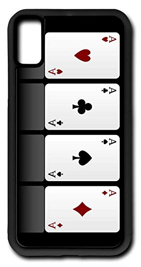 Amazon.com: iPhone X Case Four Aces Hearts Spades Diamonds.
