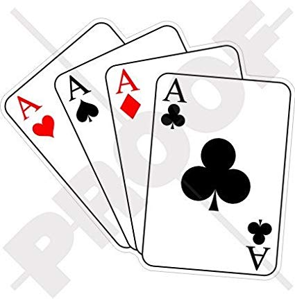 FOUR ACES Casino Playing Cards, Poker Ace 4,4\