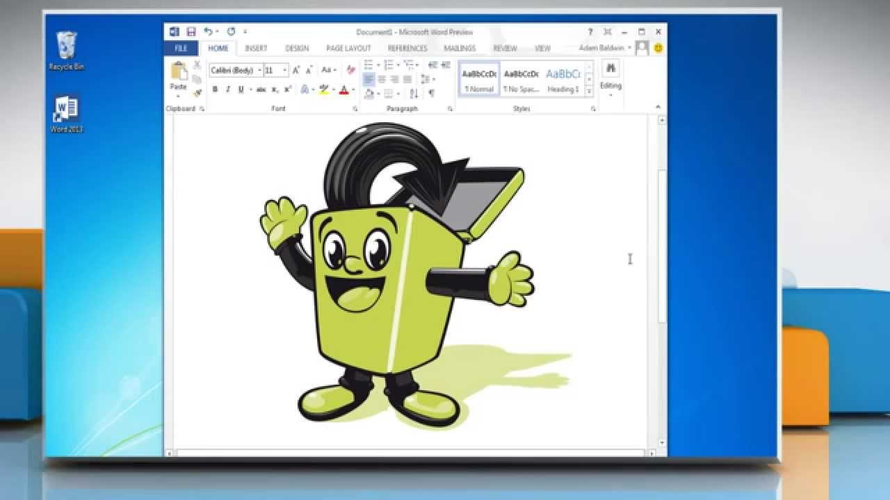 How to Insert a Clip Art in Microsoft® Word 2013.