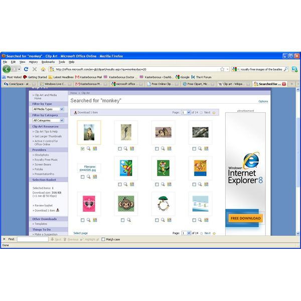 Finding and Using Microsoft Clipart Online.