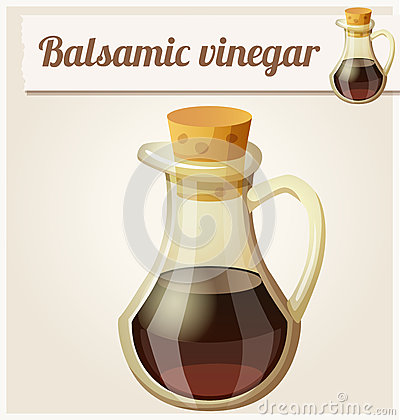 Aceto Balsamico Stock Illustrations.