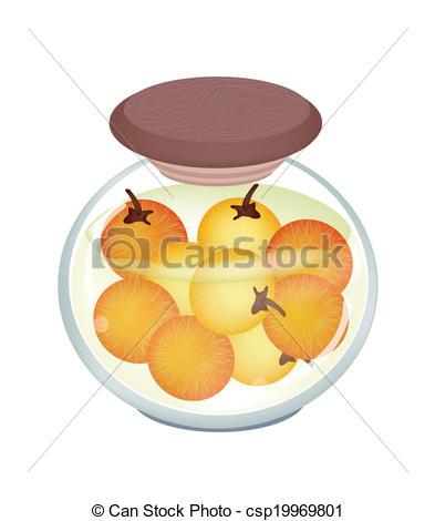 Clipart vettoriali di pikled, solanum, aceto, malto, vaso.