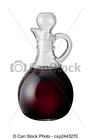 Stock Illustration of Balsamic Vinegar isolated on a white.