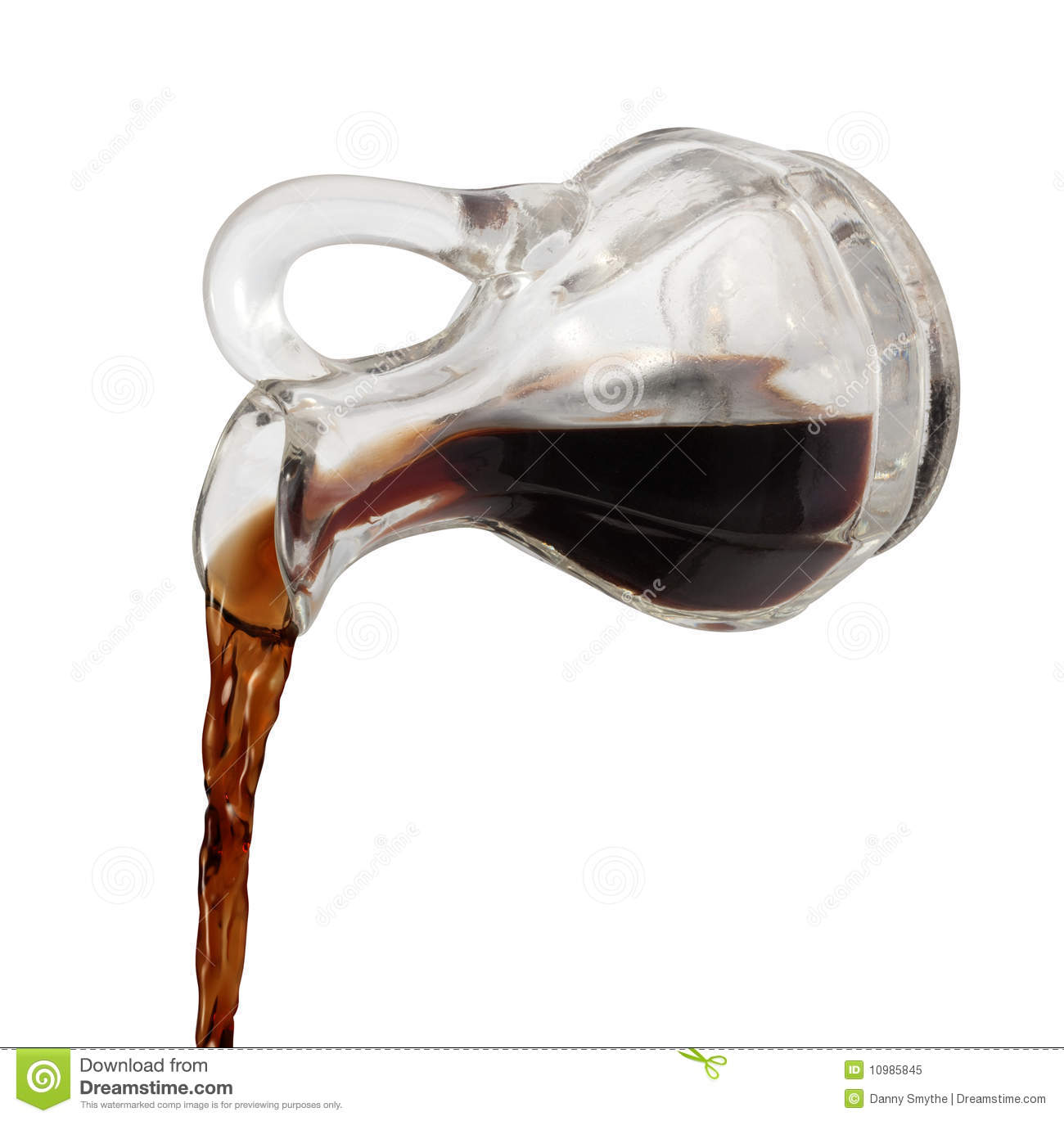 Vinegar Being Poured Royalty Free Stock Photography.