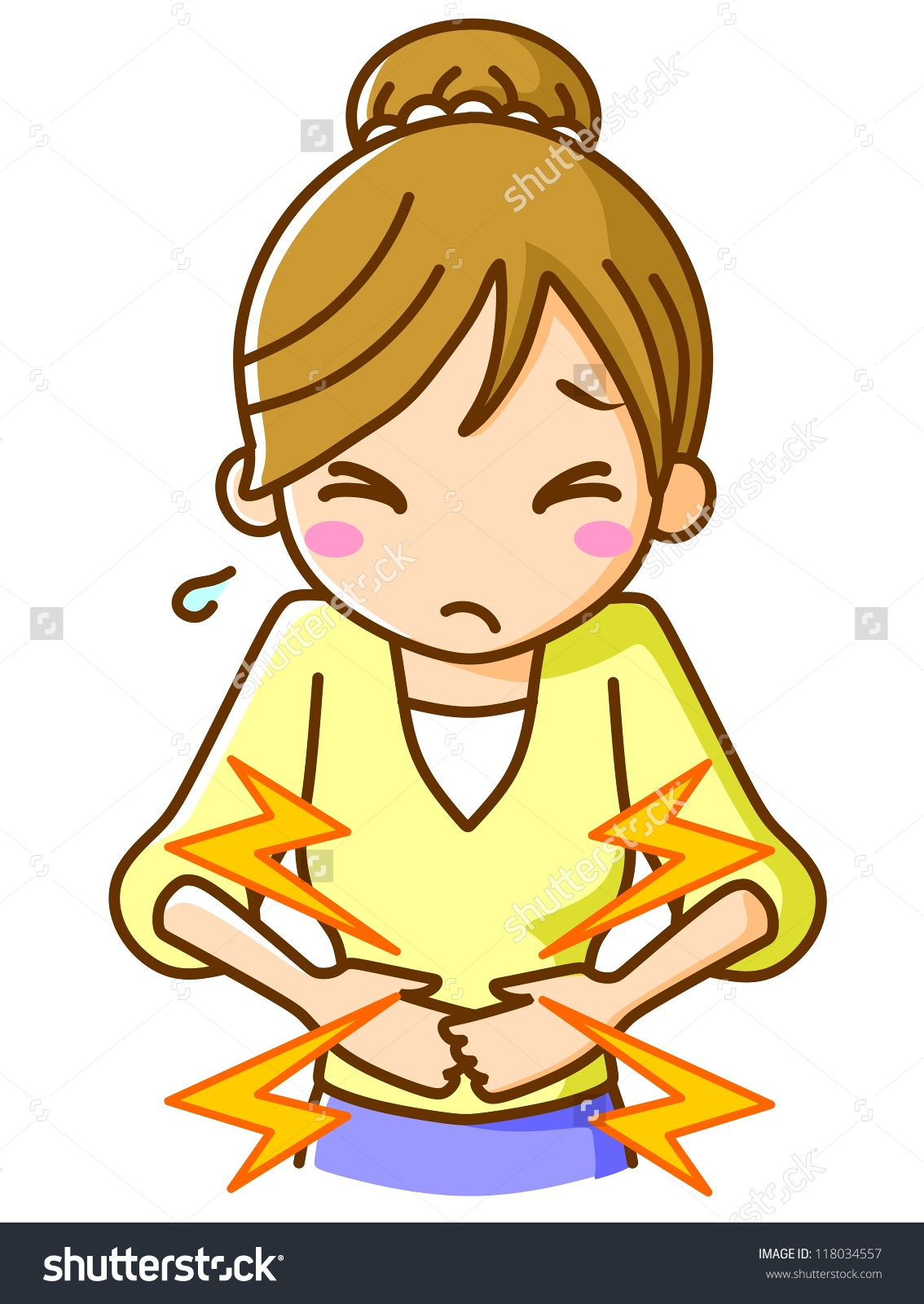 Stomach pain clipart.