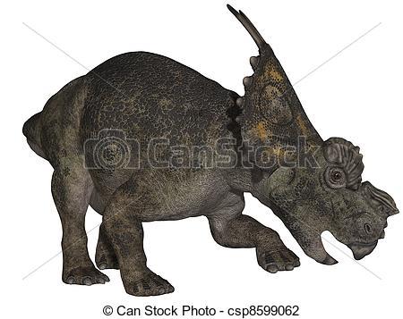 Clip Art of Achelousaurus.
