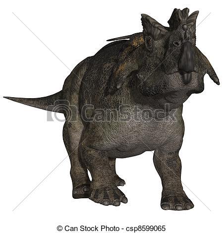 Stock Illustrations of Achelousaurus.