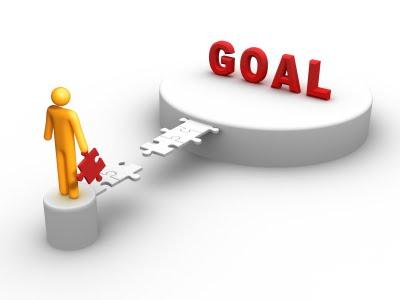 Achieve a Goal Clip Art.