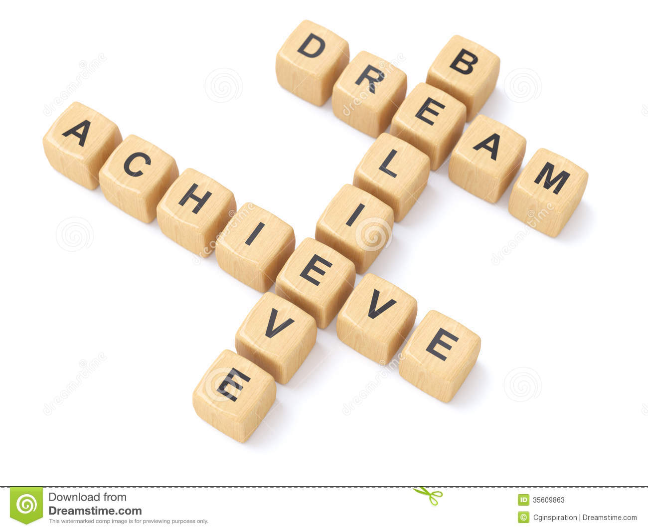 Dream Believe Achieve Clipart.