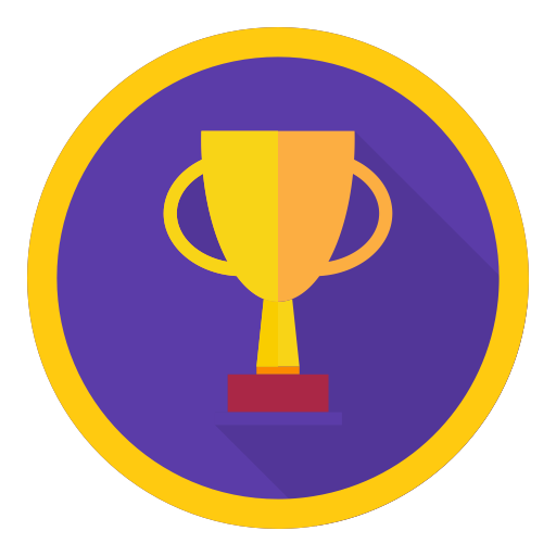 Achievement, best, reward, trophy, win icon.