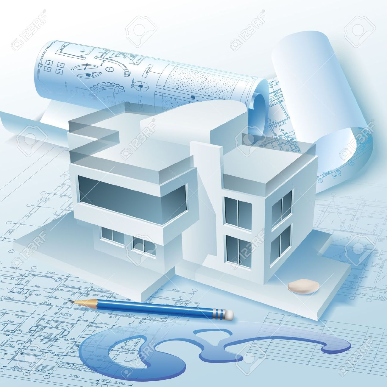 Architecture clipart illustrations.