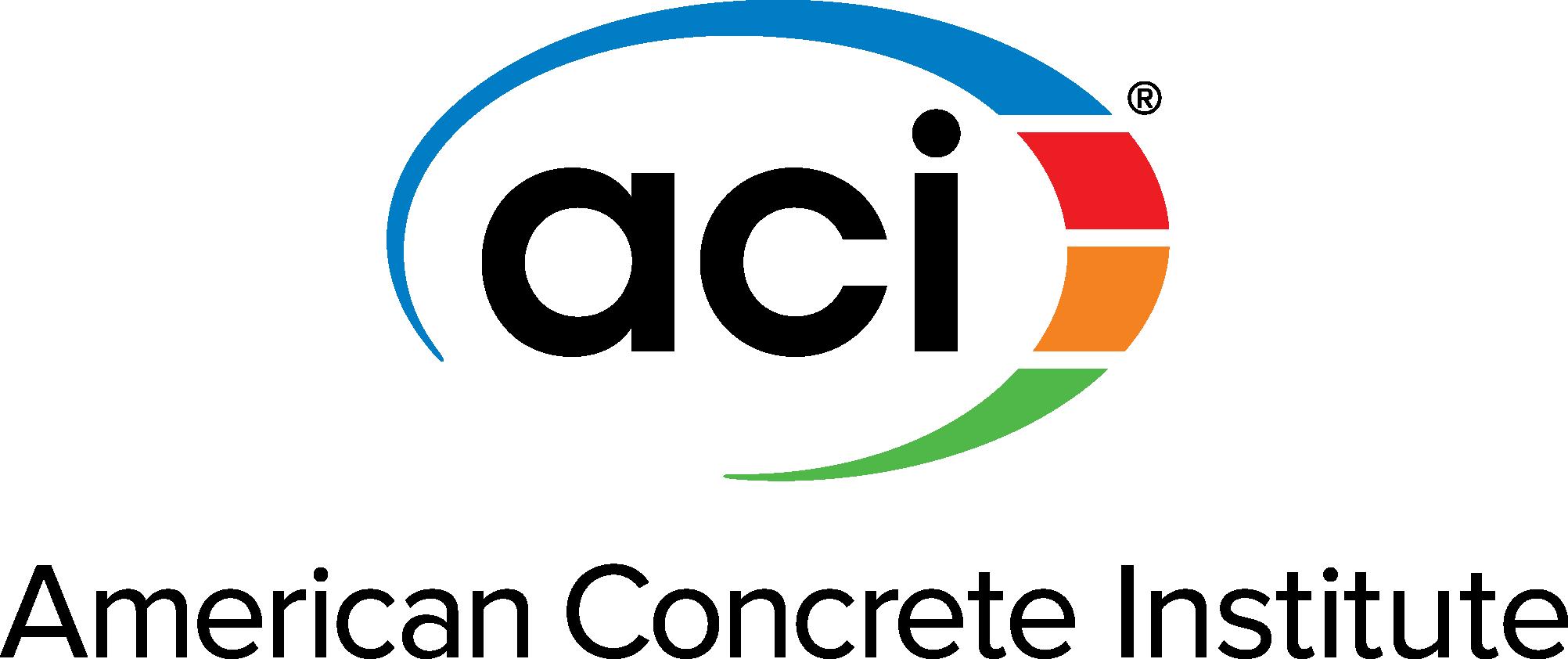 ACI Logo [American Concrete Institute] Vector Icon Template Clipart.