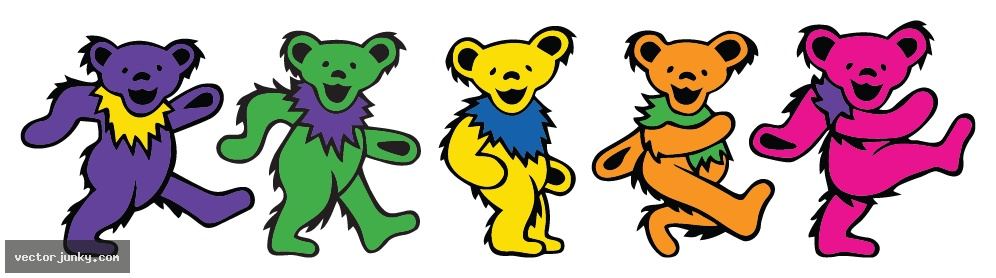 Dancing Bears Grateful Dead Wallpaper.