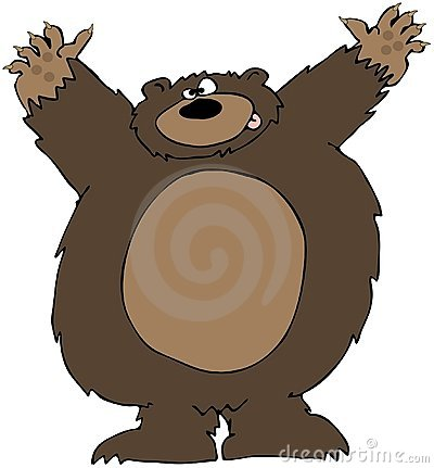 Bear Attack Clipart.