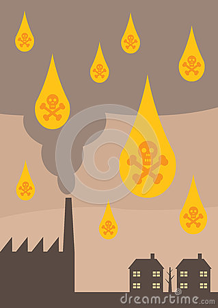 Acid Rain Pollution. Stock Images.