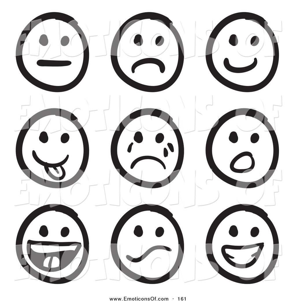 Emotion Faces Clipart.