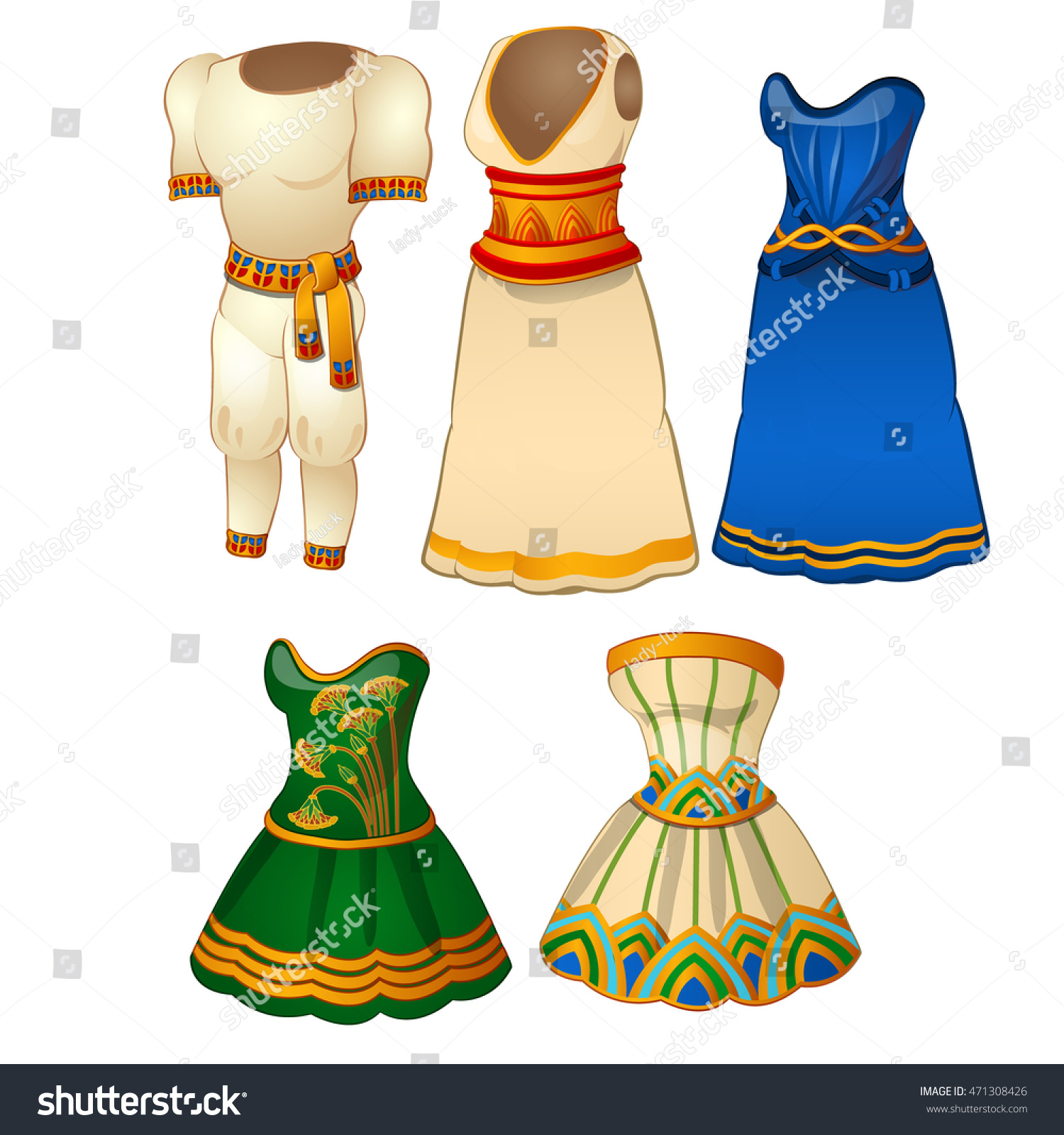 Egyptian Clothing Clipart.