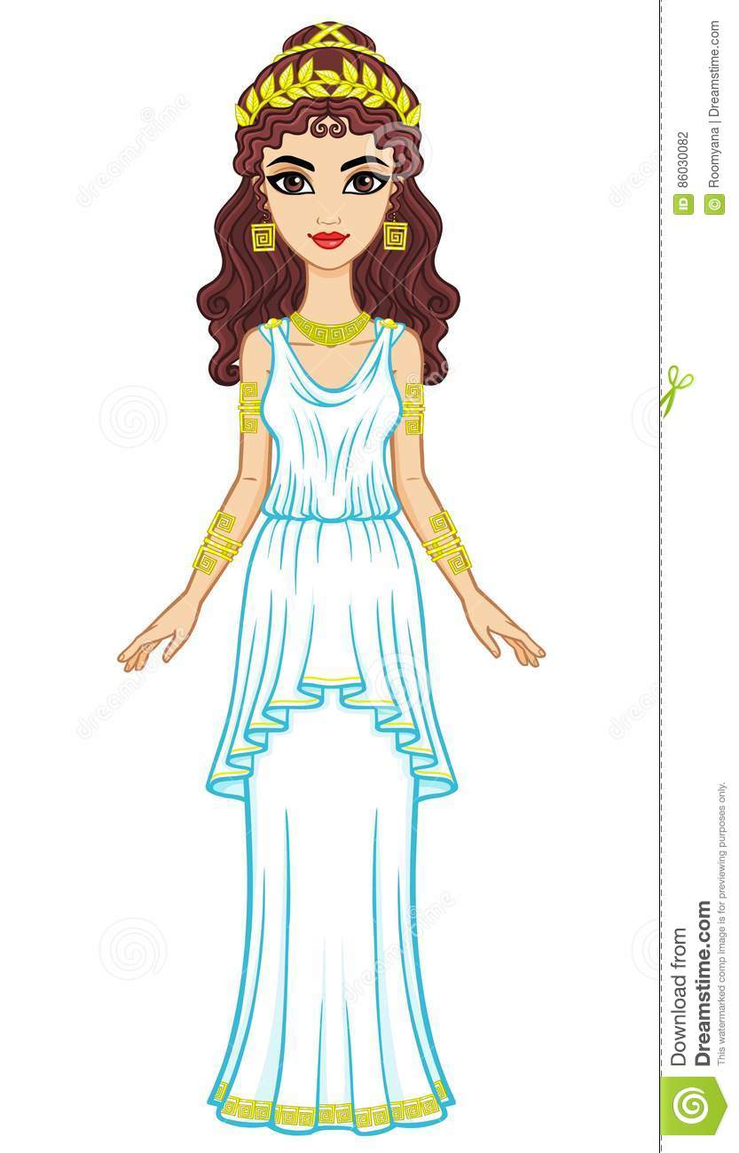 Greek Woman Clipart.