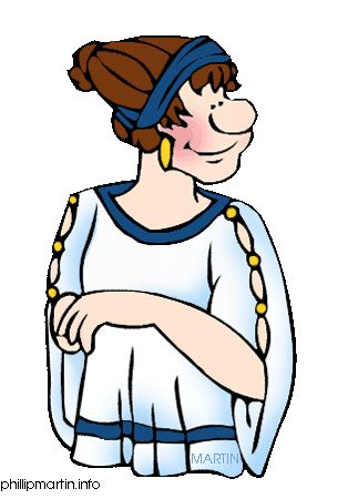Ancient greek people clipart women.