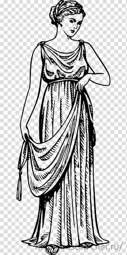 Women Day Drawing, Ancient Greece, Chiton, Peplos, Greek.
