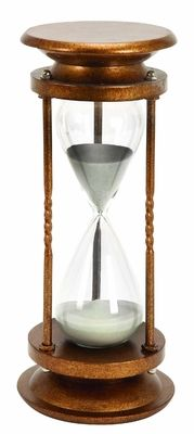 Buy Metal Glass 60 Minutes Hourglass, Antique Metal Glass.