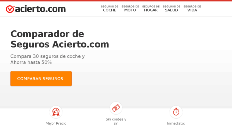 Access acierto.asesorseguros.com. Comparador Seguros Coche.
