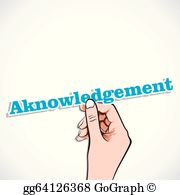 Acknowledgement Clip Art.