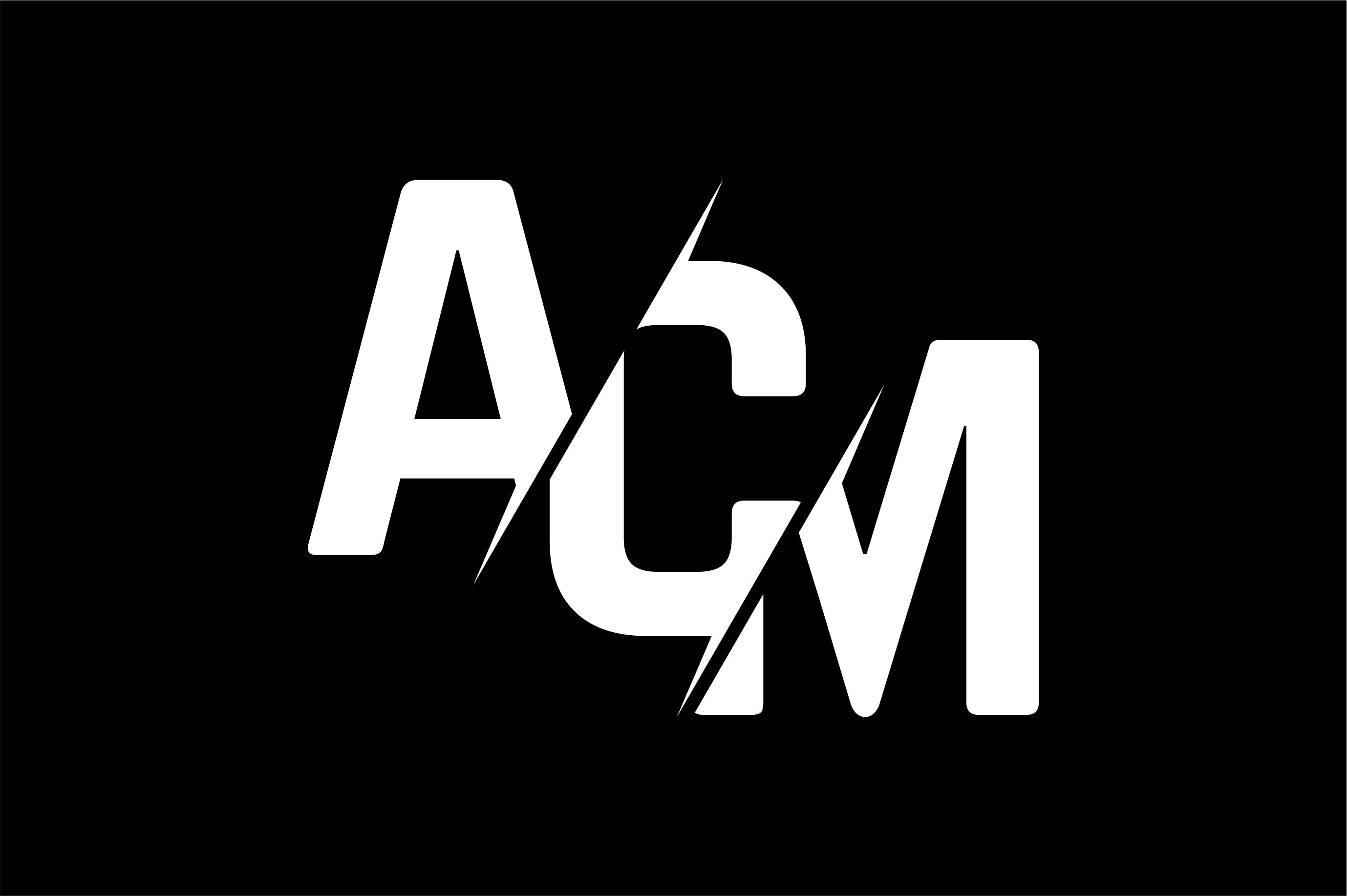 Monogram ACM Logo Design.