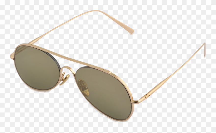 Acne Studios Small Aviator Sunglasses Gold Donna.