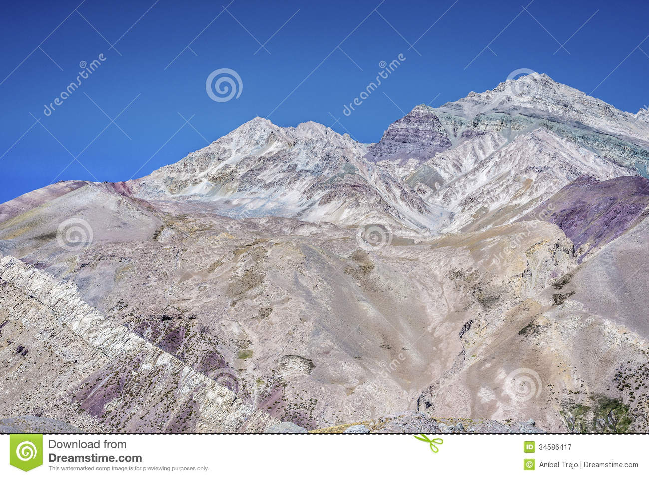 Aconcagua, In The Andes Mountains In Mendoza, Argentina. Royalty.