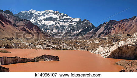 Picture of Aconcagua mountain panorama k14996107.