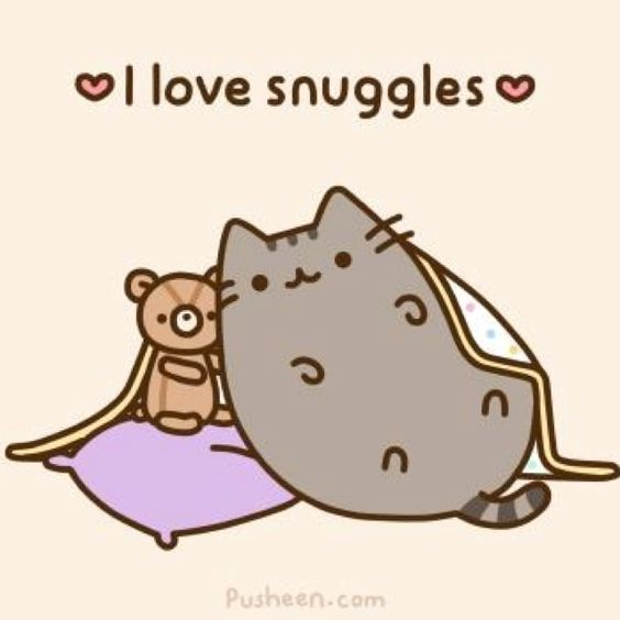 Pusheen loves snuggles. :).