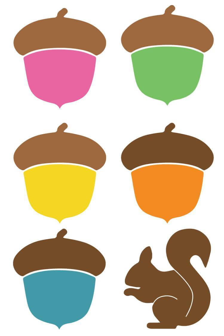 Acorn Clip Art + Cut Files.