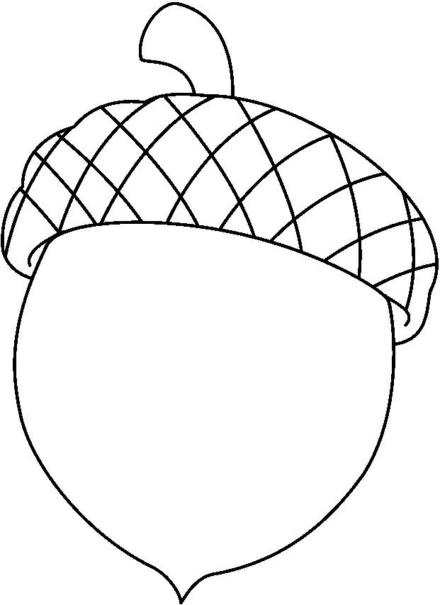 Acorn Outline Clipart.
