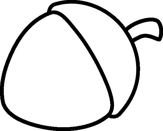 Acorn Clipart Black And White.