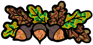 Autumn Accents Clip Art with a Cyber Twist.