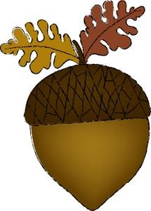 Acorn Leaf Clipart Free.