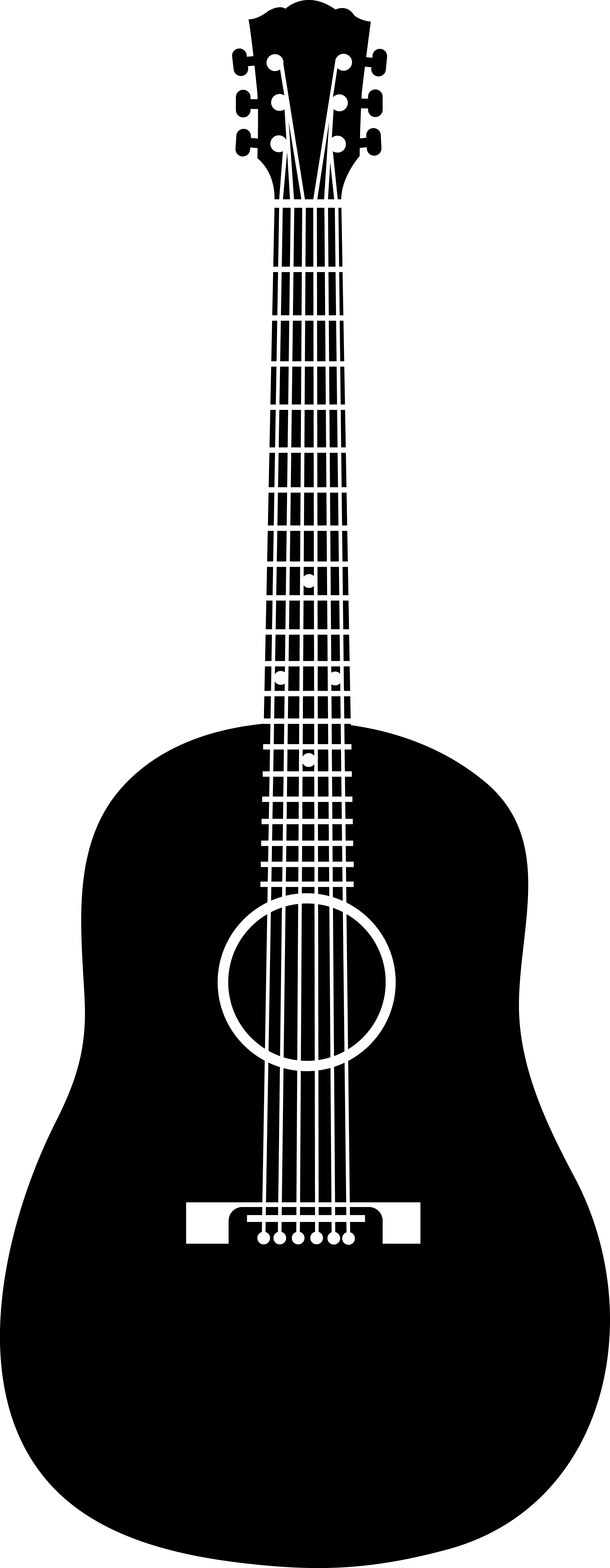 Acoustic guitar clip art.