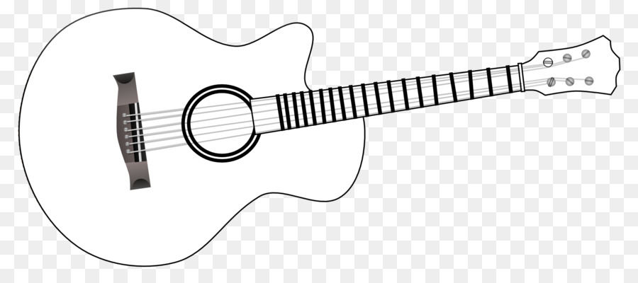 Guitar Clipart Png Black And White.