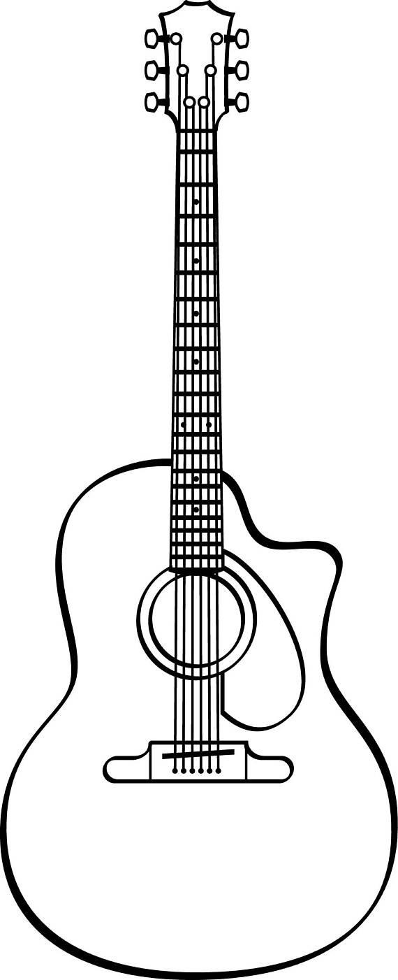 Guitar Line Art.