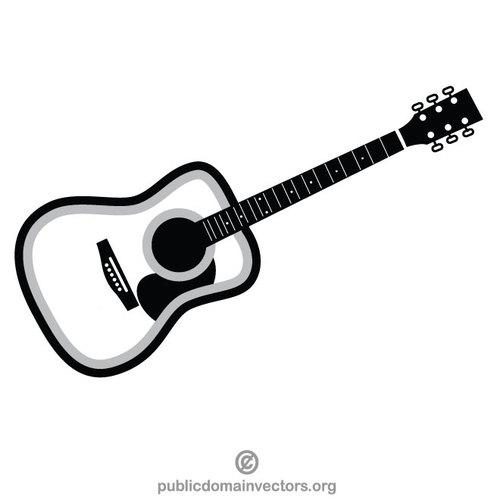 Acoustic guitar clip art image.